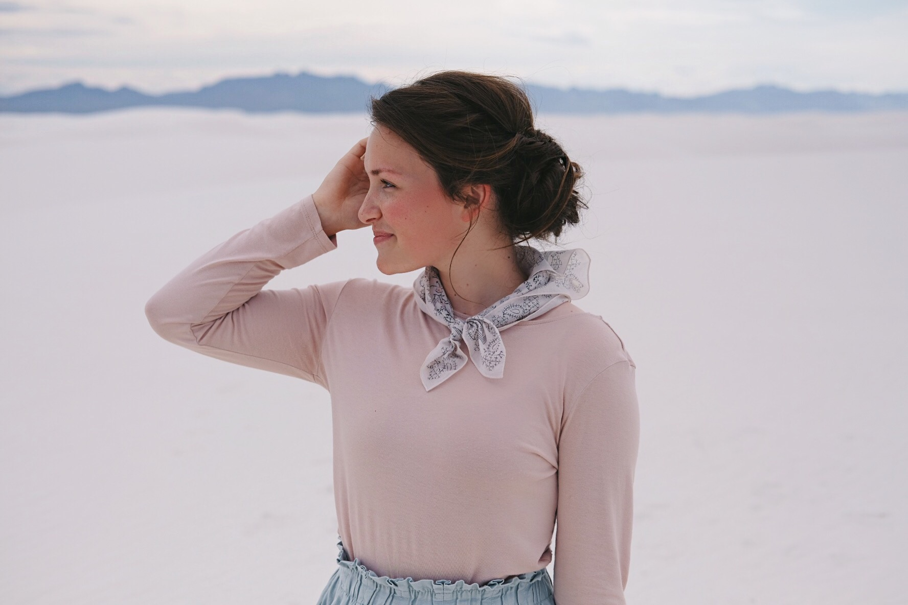 Soft Feminine Outfit at White Sands, NM