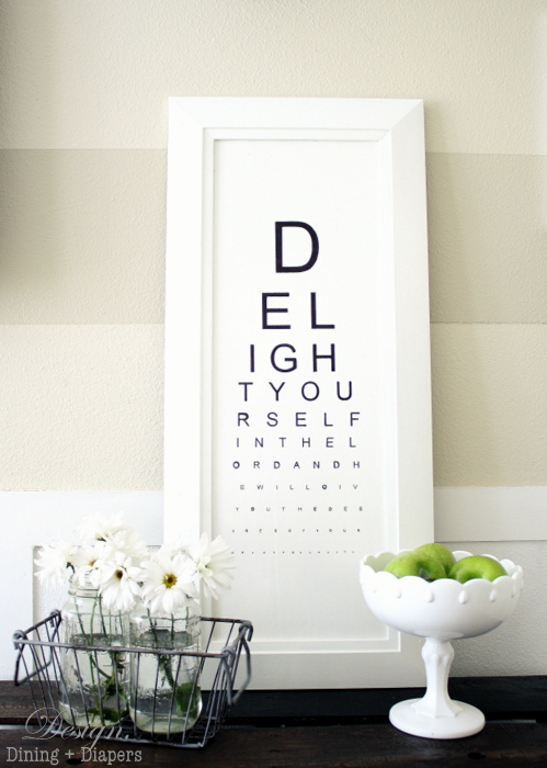 DIY Eye Chart Tutorial | DIY Gifts